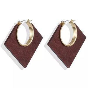 Natural Wood Bohemian Elegance Earrings